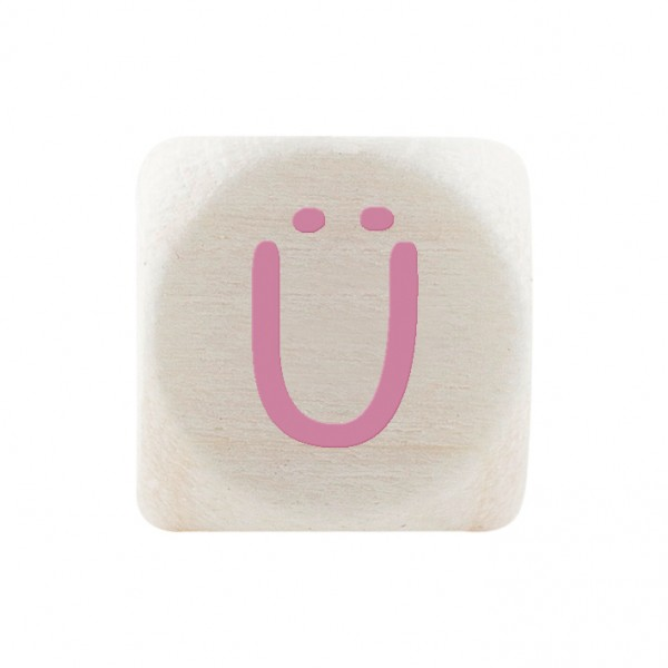 Premiumbuchstabe 10 mm rosa Ü