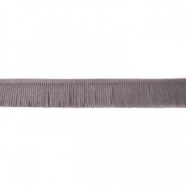 Fransenband Kunstleder 3 cm dunkelgrau