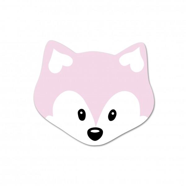Ausverkauf Motivperle Mini-Fuchs horizontal babyrosa