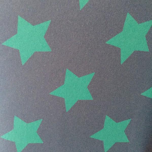 Lillestoff Jersey Stars Big dunkelblau/türkisgrün 5 cm