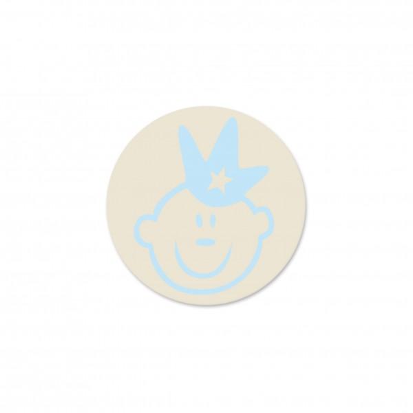 Ausverkauf Motivperle Prinz horizontal hellnatur/babyblau