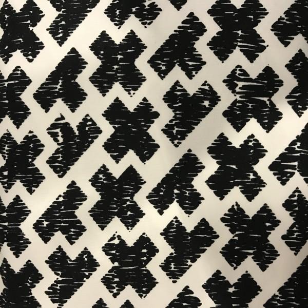 Jersey Kreuze schwarz auf weiß
