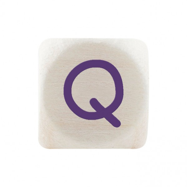 Premiumbuchstabe 10 mm lila Q