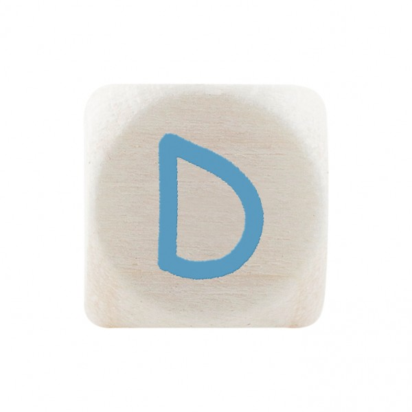 Premiumbuchstabe 10 mm babyblau D