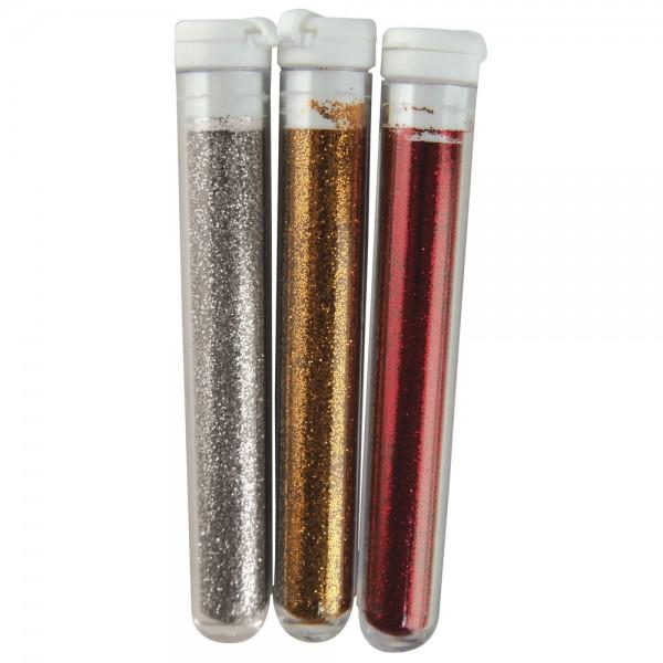 Fein-Flitter gold/silber/rot