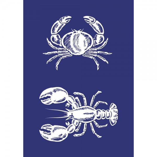 Schablone A5, Krebs & Lobster
