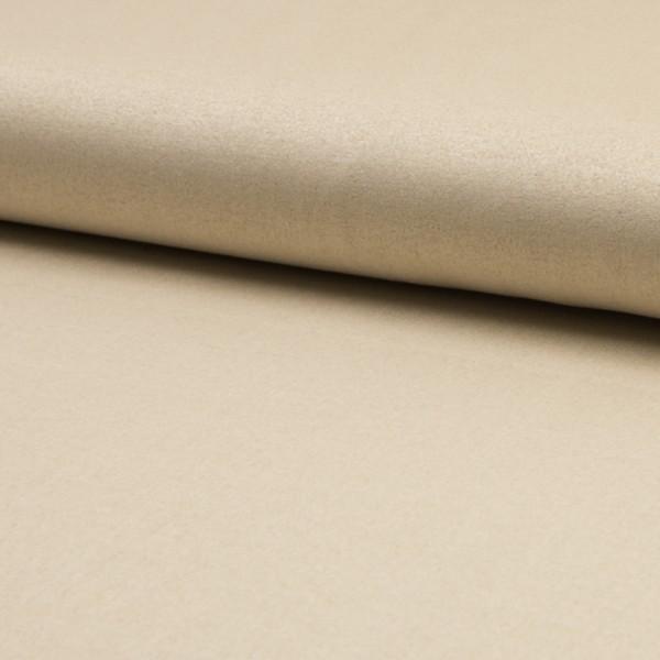 Reststück 95cm Wildlederjerseyimitat Klassik sand