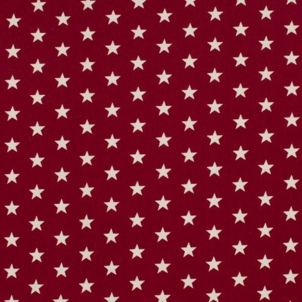 DEAL Jersey Sterne bordeaux/weiß