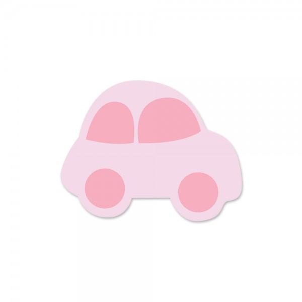 Ausverkauf Motivperle Auto horizontal babyrosa/mittelrosa