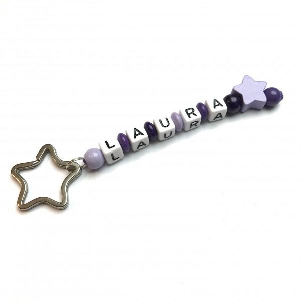 Schlüsselanhänger mit Wunschname (Modell Laura)