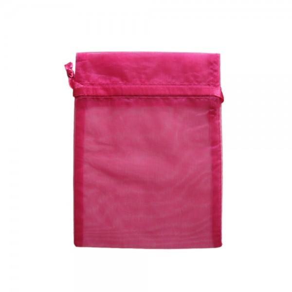 Organzasäckchen 15 x 10 cm pink
