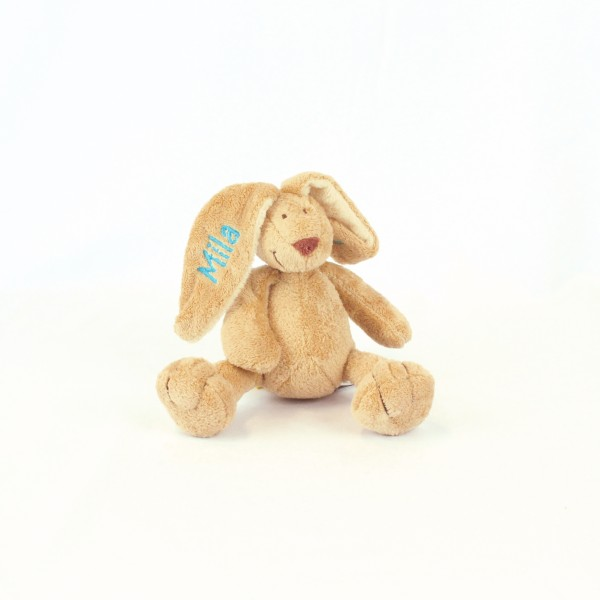 Minihase mit Wunschname mitteltürkis (Modell Mila)