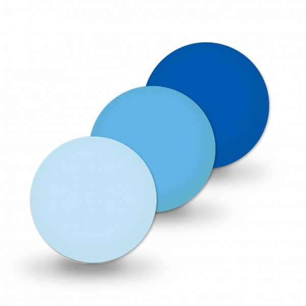 Uniperlen 12 mm blau-mix