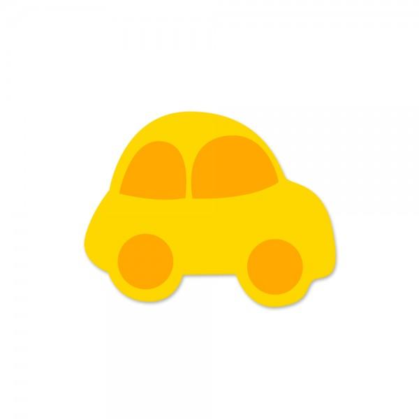 Ausverkauf Motivperle Auto horizontal maisgelb/mittelorange