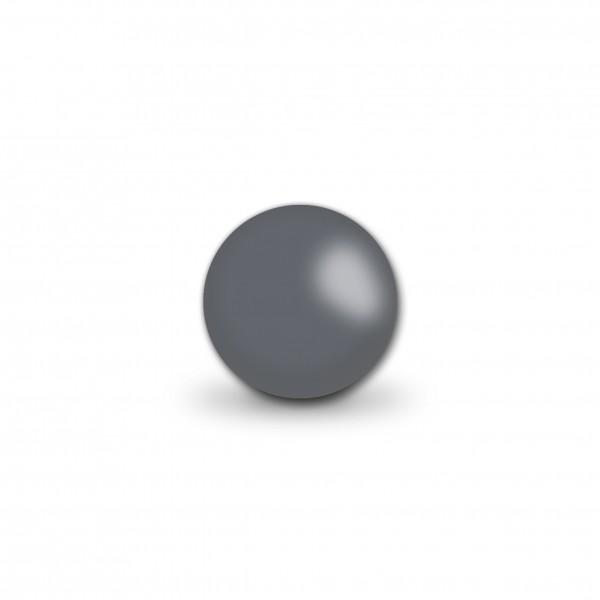 Uniperlen 10 mm dunkelgrau (ca.25 Stück)