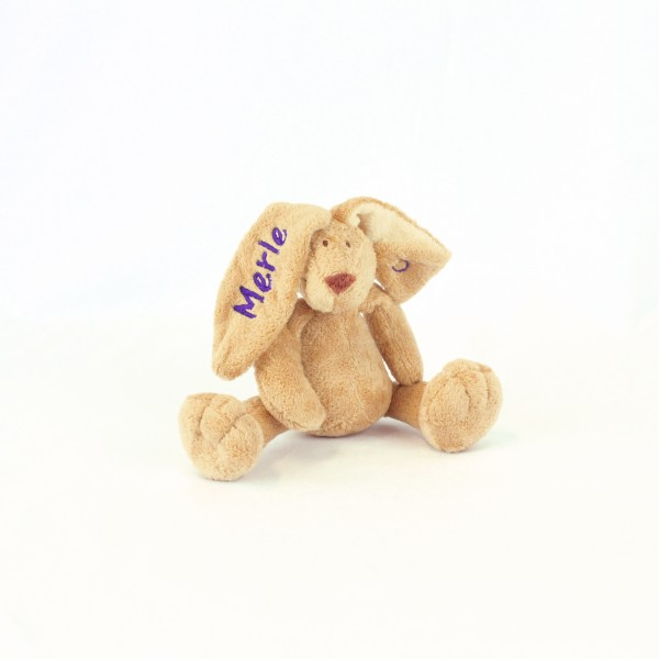 Minihase mit Wunschname lila (Modell Merle)