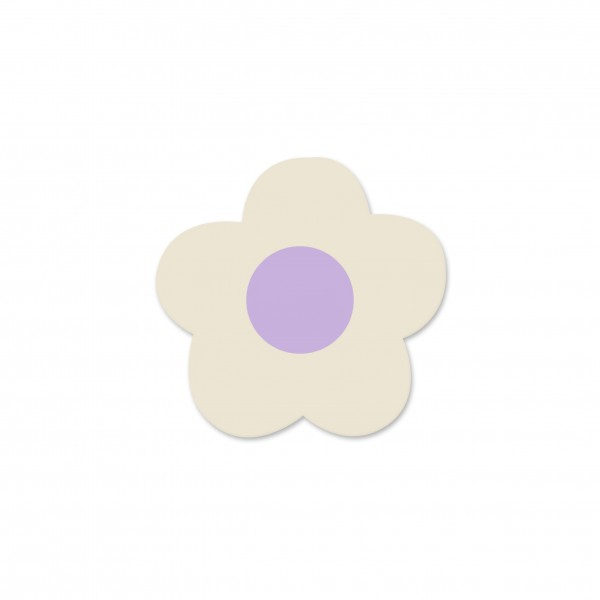 Ausverkauf Motivperle Mini-Blume horizontal hellnatur/flieder
