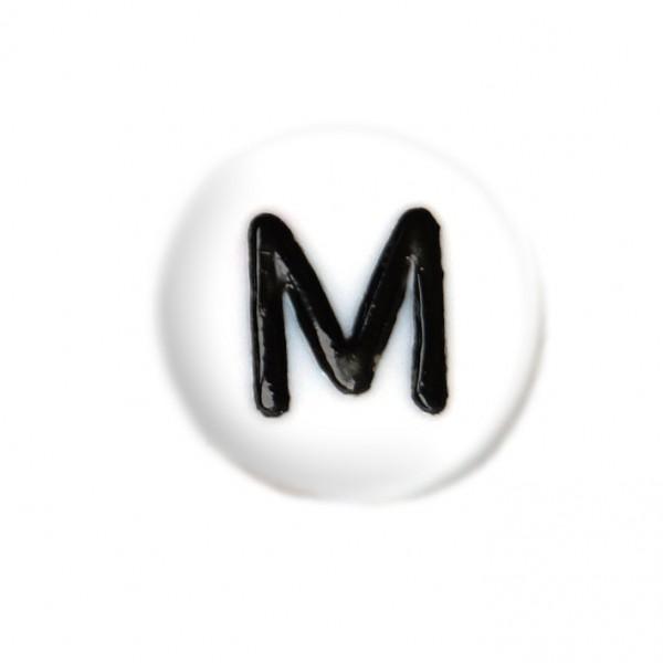 weisse Buchstabenperlen 7 mm M