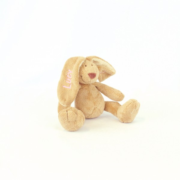 Minihase mit Wunschname babyrosa (Modell Lucy)