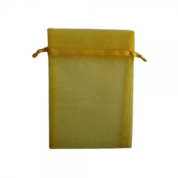 Angebot Organzasäckchen 15 x 10 cm gelb
