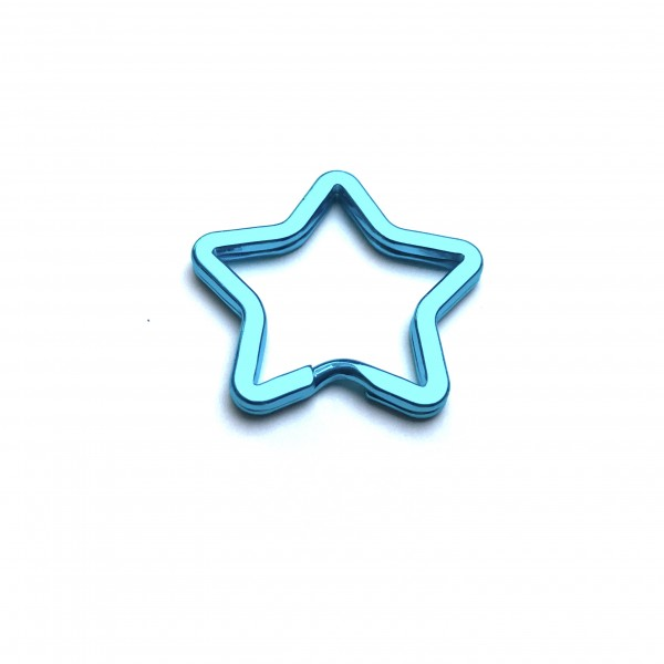 Schlüsselring, Spaltring Stern türkis