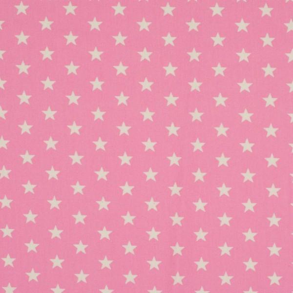 Jersey Sterne rosa/weiß