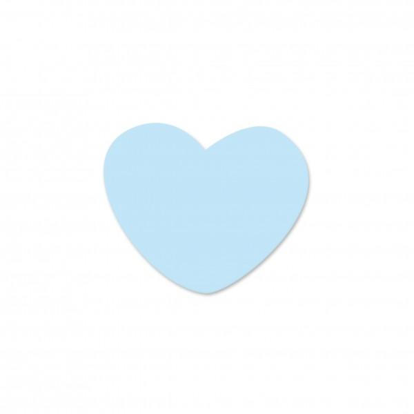 Ausverkauf Motivperle Miniherzen horizontal babyblau