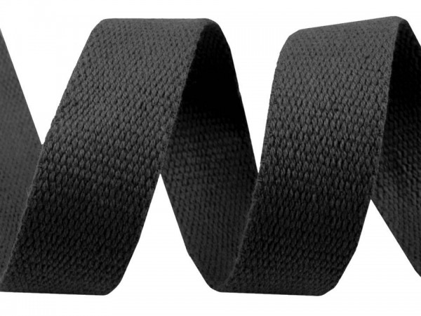 Gurtband Baumwolle Breite 30 mm schwarz