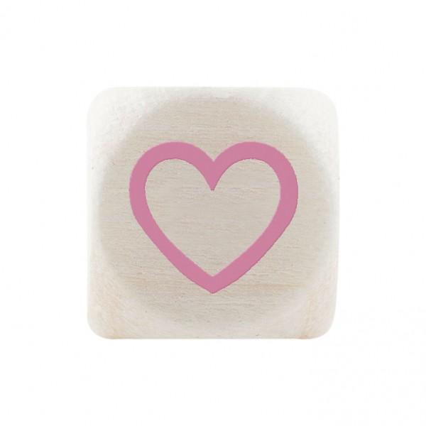 Premiumbuchstabe 10 mm rosa Herz