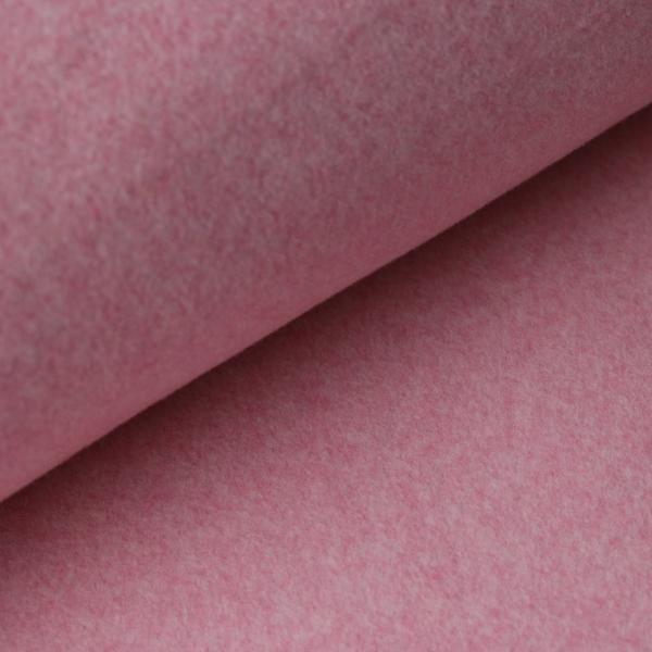 Baumwollfleece Melange Rosa
