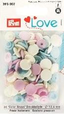 Prym Love Druckknöpfe 'Color Snaps' rosa/hellblau/perle