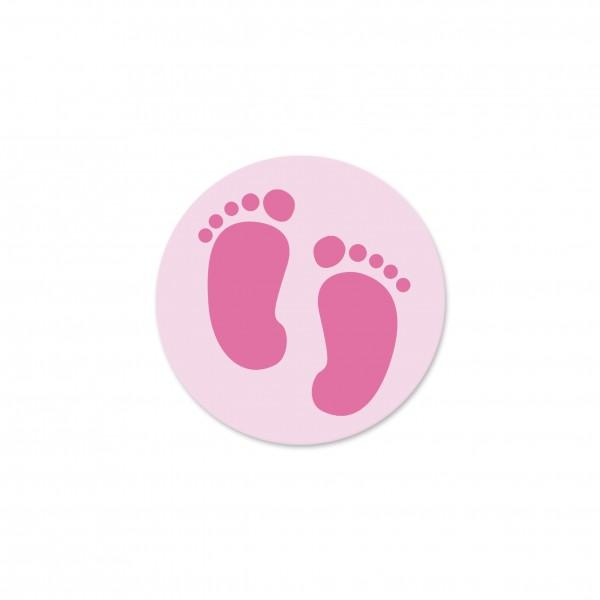 Motivperle Füsschen horizontal babyrosa/pink