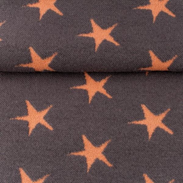 DEAL hochwertige Jacquard-Bündchen mit Sternen braun/orange