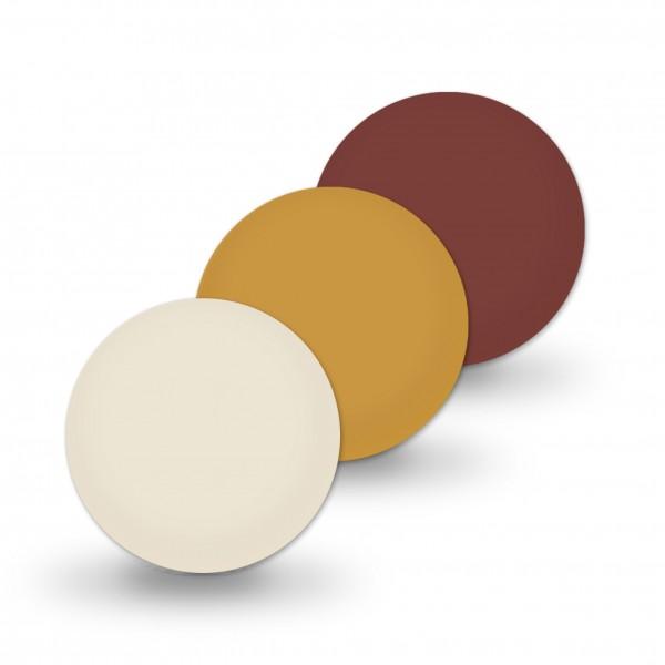 Ausverkauf Uniperlen 12 mm braun-mix