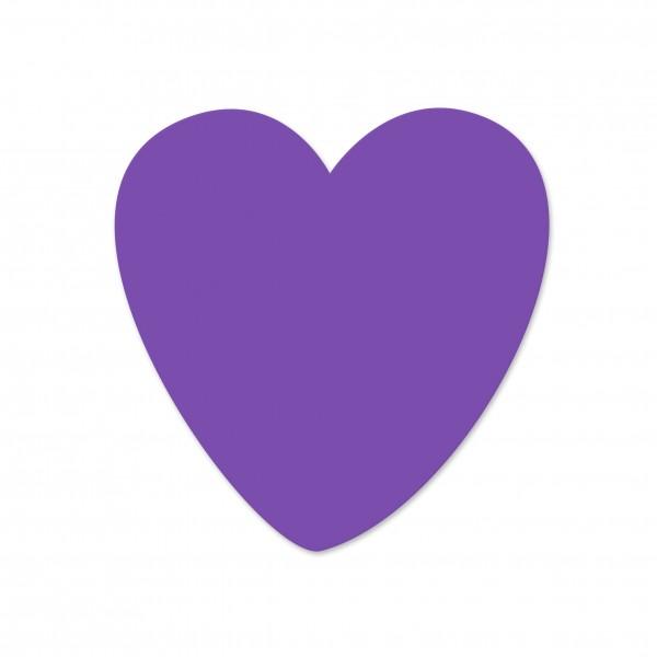 Ausverkauf Motivperle Herz horizontal lila