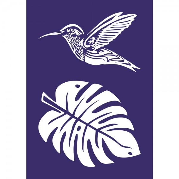 Schablone A4, Kolibri