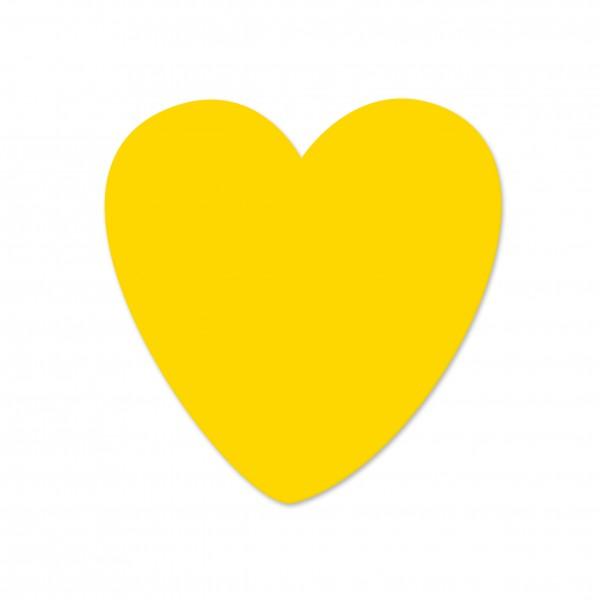 Ausverkauf Motivperle Herz horizontal maisgelb