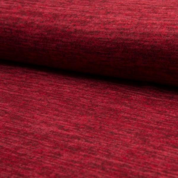 melierter Strickjersey rot
