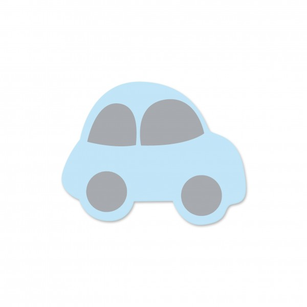 Motivperle Auto horizontal babyblau/hellgrau