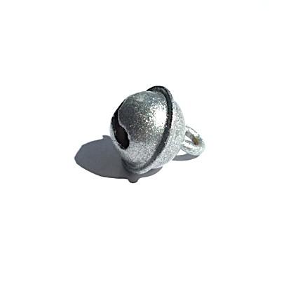 Glöckchen 11 mm glitzersilber