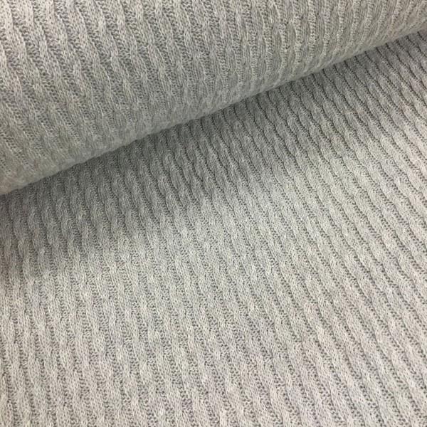 Pattern Love - Knitty Plait mittelgrau mélange by Albstoffe und Hamburger Liebe