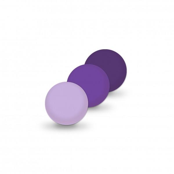 Uniperlen 8 mm lila-mix