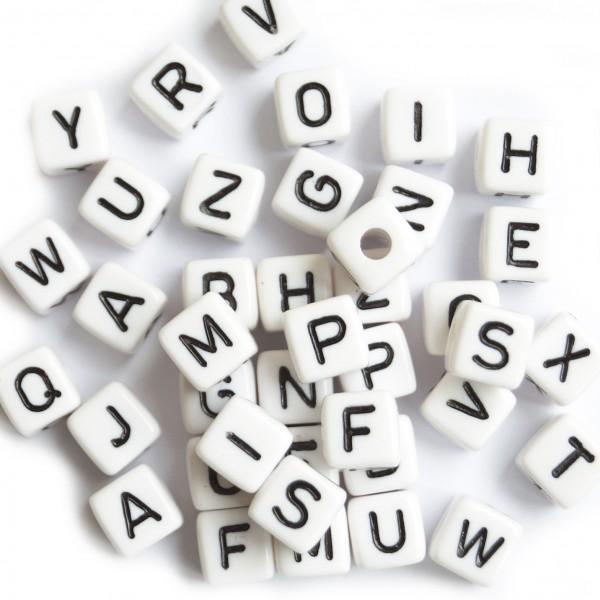 ca. 550 Kunststoffbuchstabenwürfel 10 mm Set