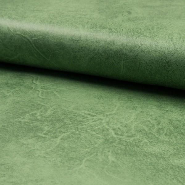Lederjerseyimitat vintage grün