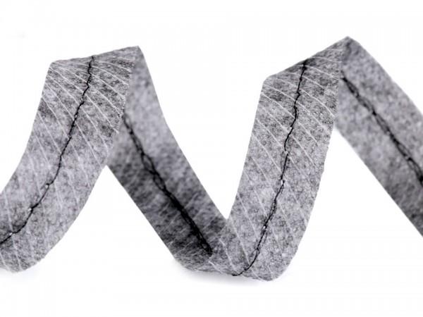 Nahtband mit Schnürchen in grau