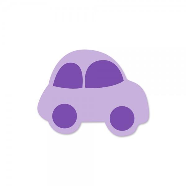 Ausverkauf Motivperle Auto horizontal flieder/lila