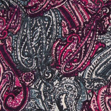 viskose jersey bunt gemustert lila pink t rkis. Black Bedroom Furniture Sets. Home Design Ideas