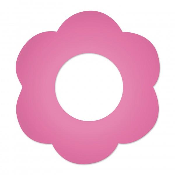Motivperle Blume gross horizontal pink