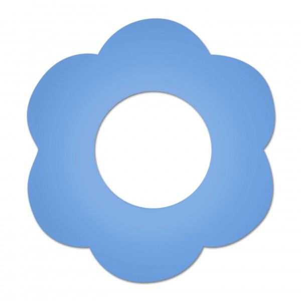 Ausverkauf Motivperle Blume horizontal hellblau