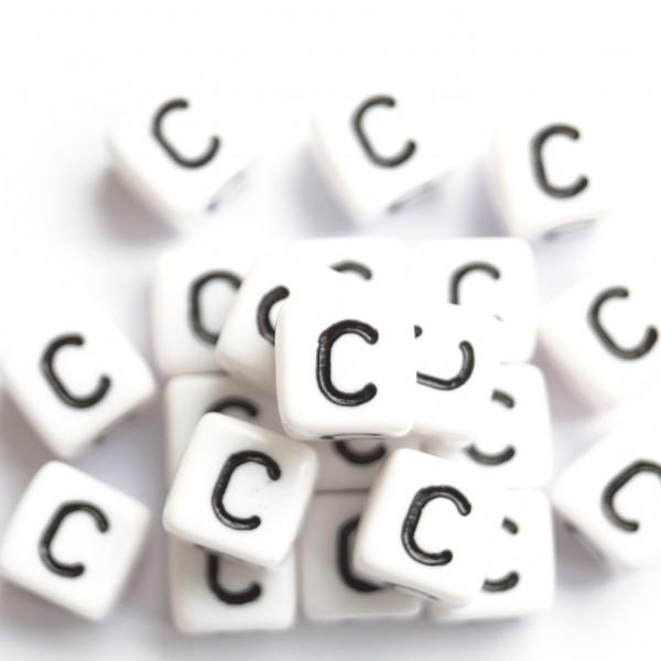 ca. 50 Kunststoffbuchstabenwürfel 10 mm C